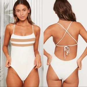 L*SPACE high impact one piece bitsy cut